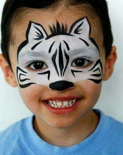 Pin By Bobbie Lemon On Yuz Boyama Face Painting Easy Animal Face Paintings Zebra Face Paint