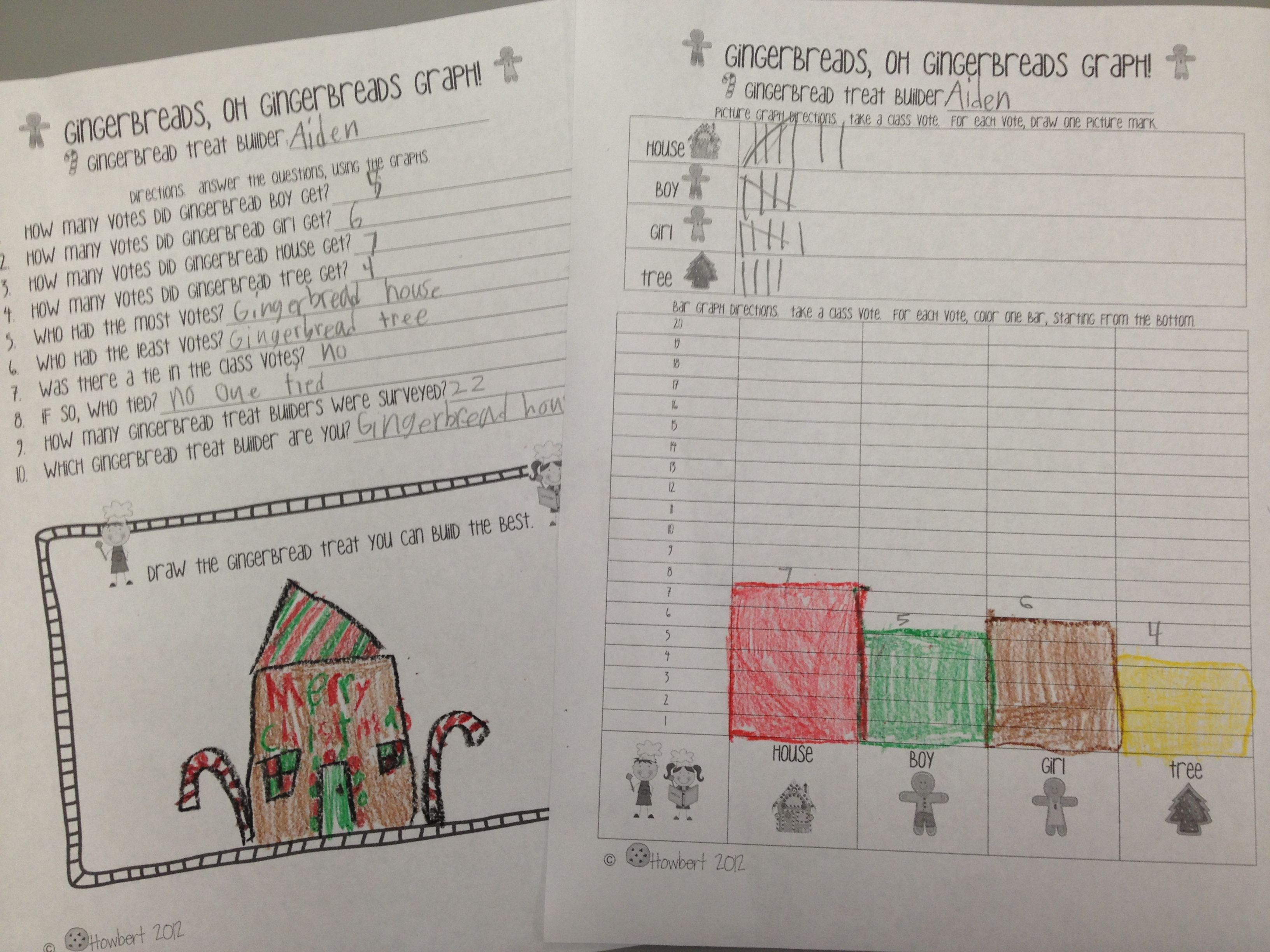 Gingerbread Graphing Unit