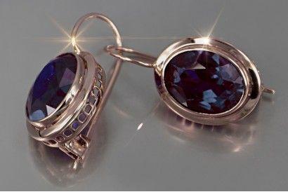 old USSR jewelry for women Vintage Russian Earrings everyday earrings gift