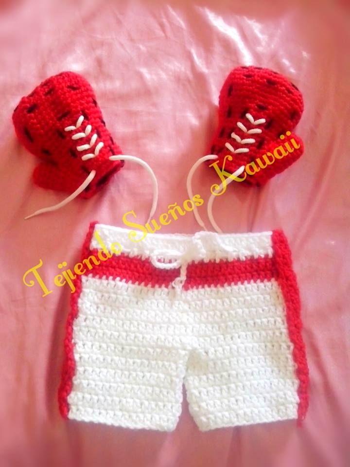 guantes y short para boxeo a crochet | Crochet / Mis creaciones ...