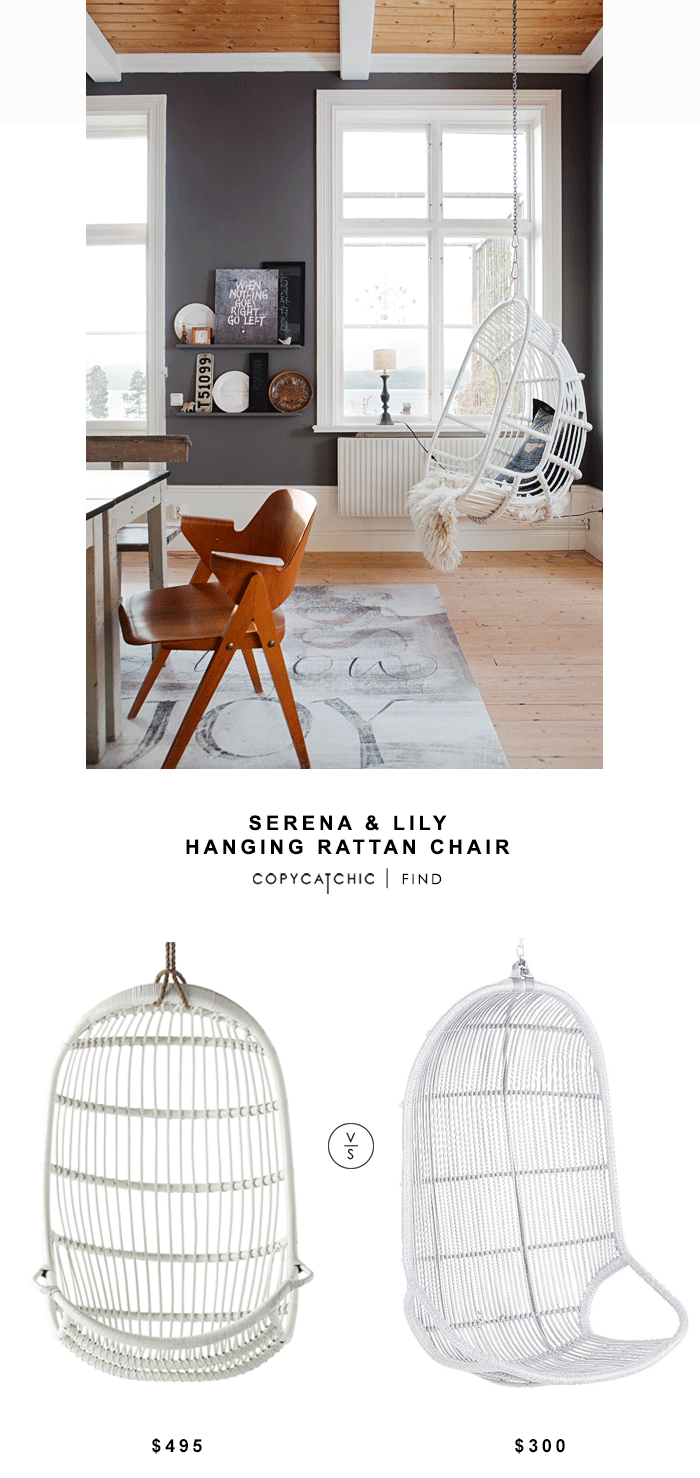 Fresh Serena and Lily Hanging Rattan Chair