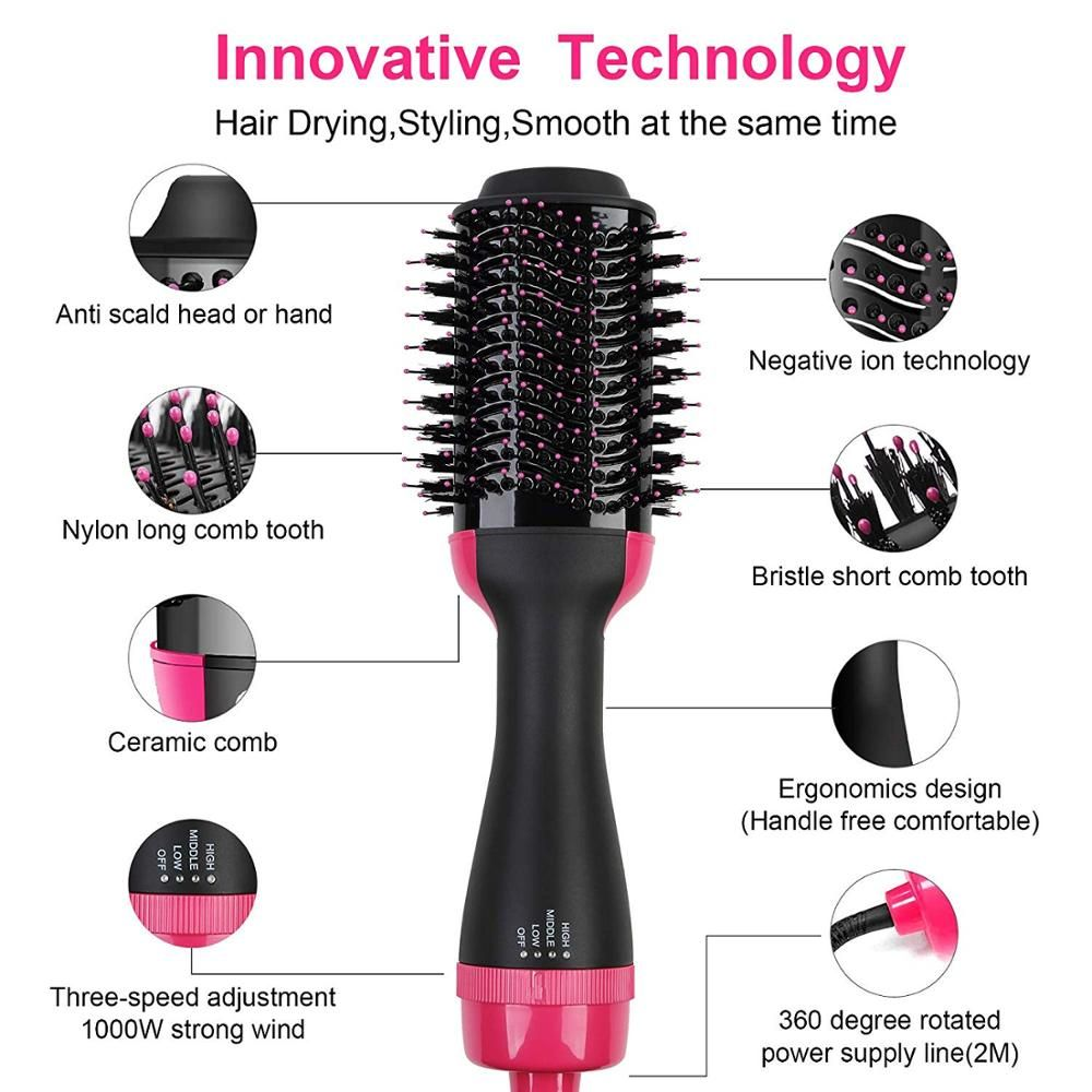 Bruvio Hair Dryer Brush Hair Brush Blow Dryer Volumizer Lively Focus In 2020 Hair Brush Blow Dryer Hair Dryer Brush Hair Dryer