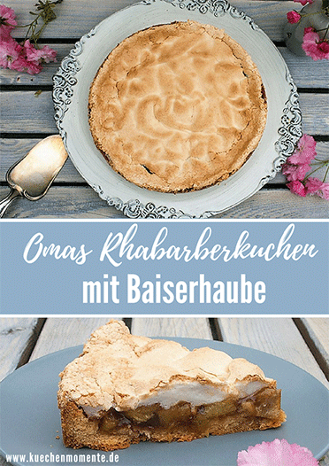 Rhabarber Baiserkuchen Mit Mandelsplittern Rezept Rezepte Essen Und Trinken Und Essen Und Trinken Rezepte