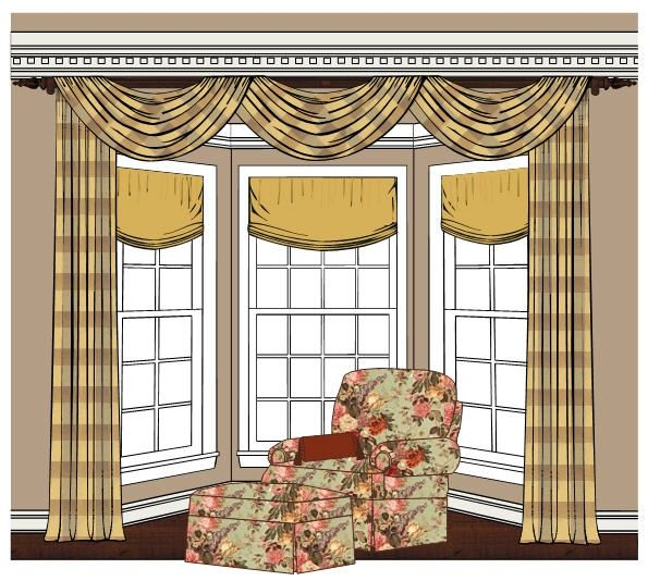 The most effective solutions to your bay window curtains - Curtains for bay windows in living room ...