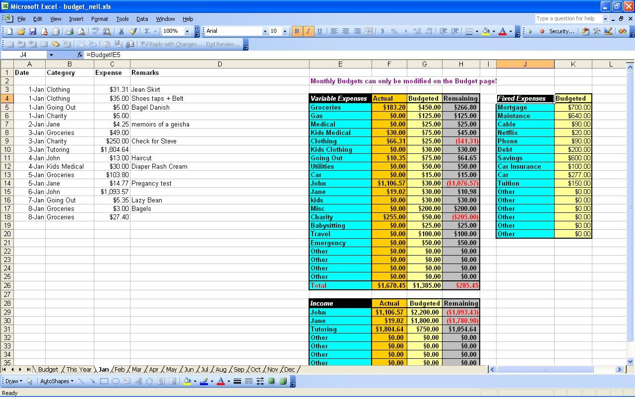 15 Budgeting Worksheets