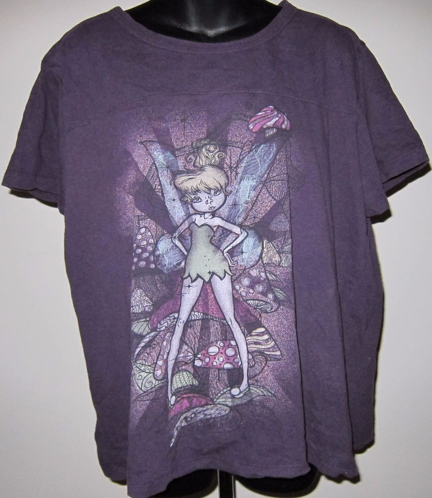 04f82792eb3 3X Disney Purple Tinkerbell with Attitude Tee Shirt Womens 22W 24W Plus Size   Disney  GraphicTee