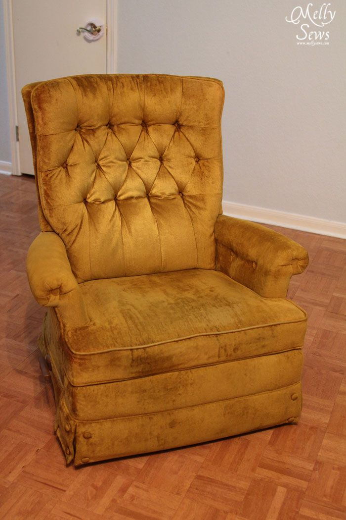 Project redecorate reupholster a recliner - How to reupholster a living room chair ...