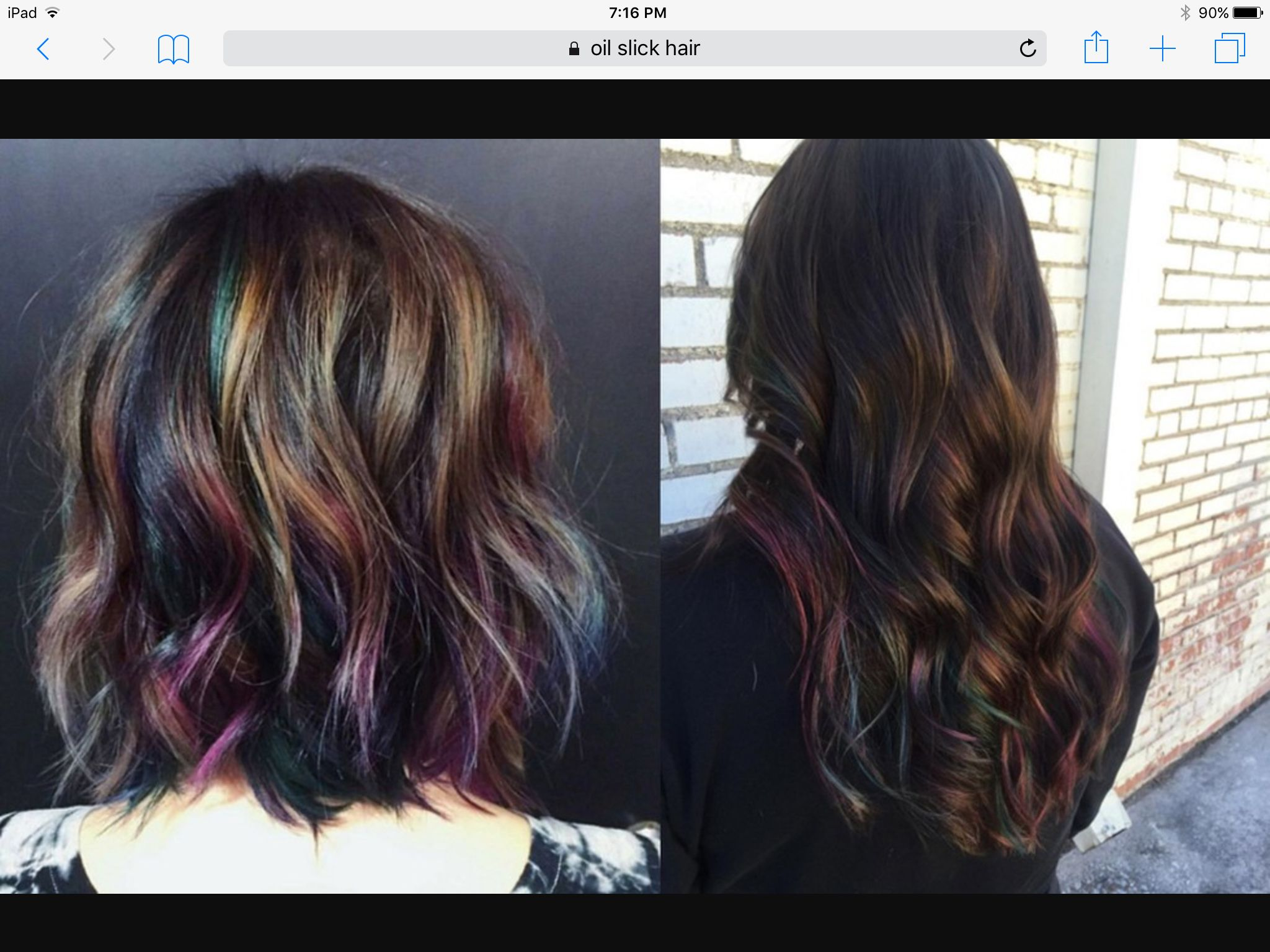 Ok this I can do! Love the oil slick color.