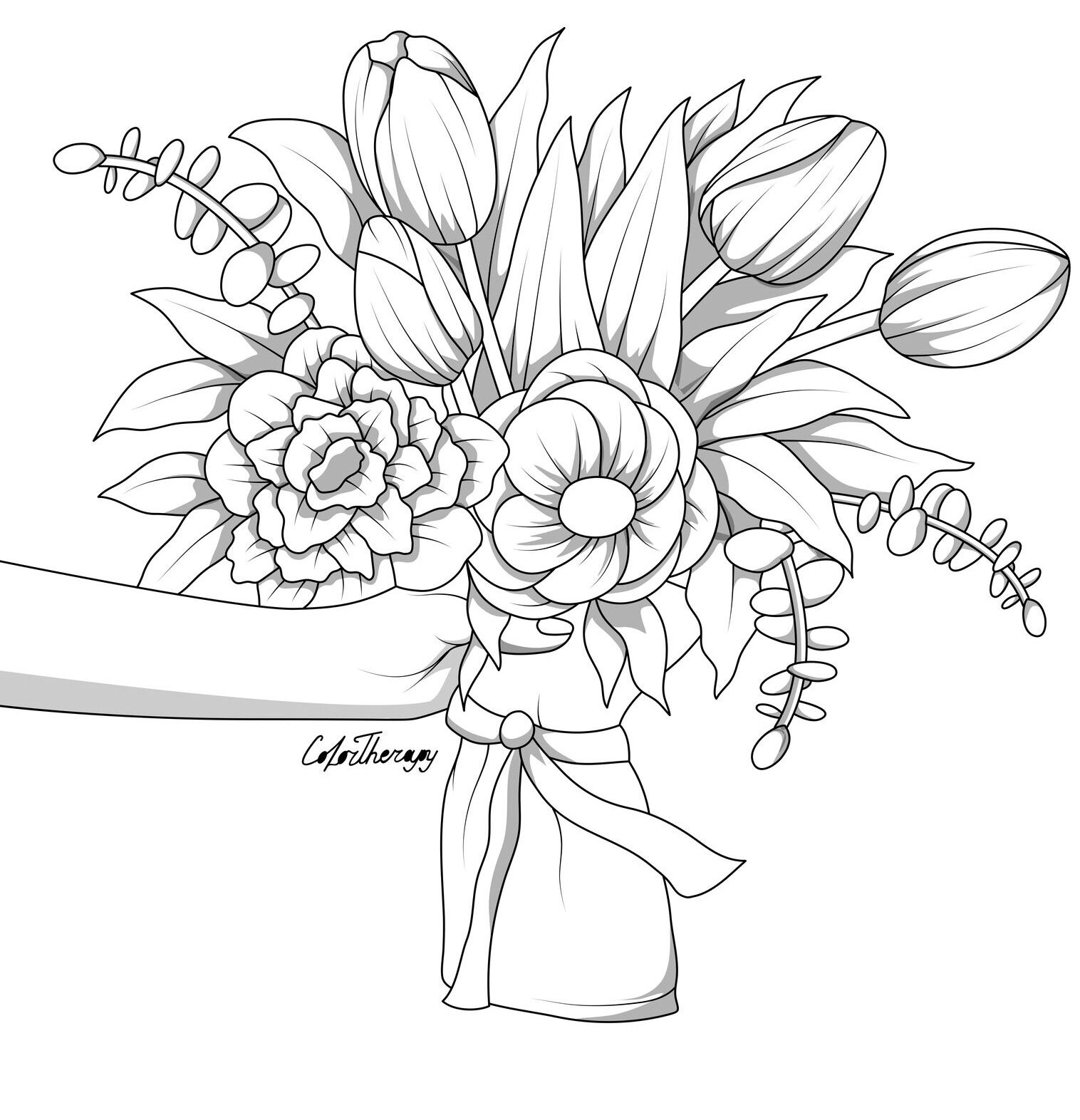 The Sneak Peek For The Next Gift Of The Day Tomorrow Do You Like This One Paper Bag Flower Mandala Coloring Pages Flower Coloring Pages Color Therapy