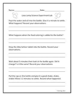 3-6 Free Resources: Lava Lamp Science Experiment   Learning ...