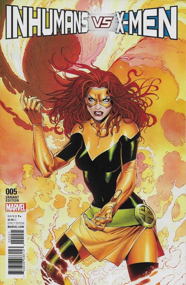 Marvel Inhumans Vs X Men Comic Issue 5 Limited Jean Grey Phoenix Variant Marvel Jean Grey Jean Grey Phoenix Jean Grey