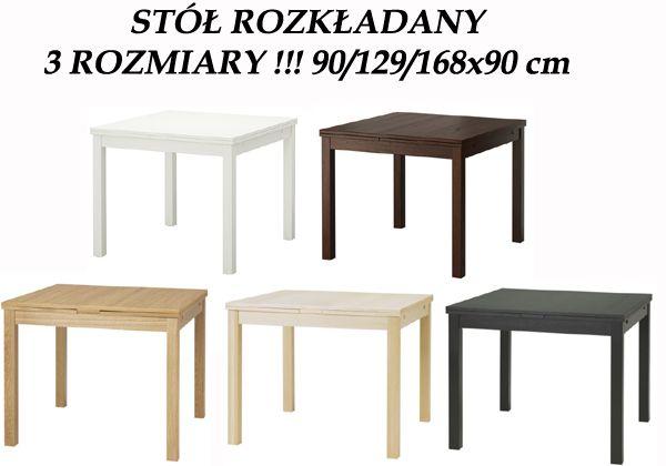 Ikea Bjursta Stół Rozkładany Max 168x90cm 5kol Pro Ania F