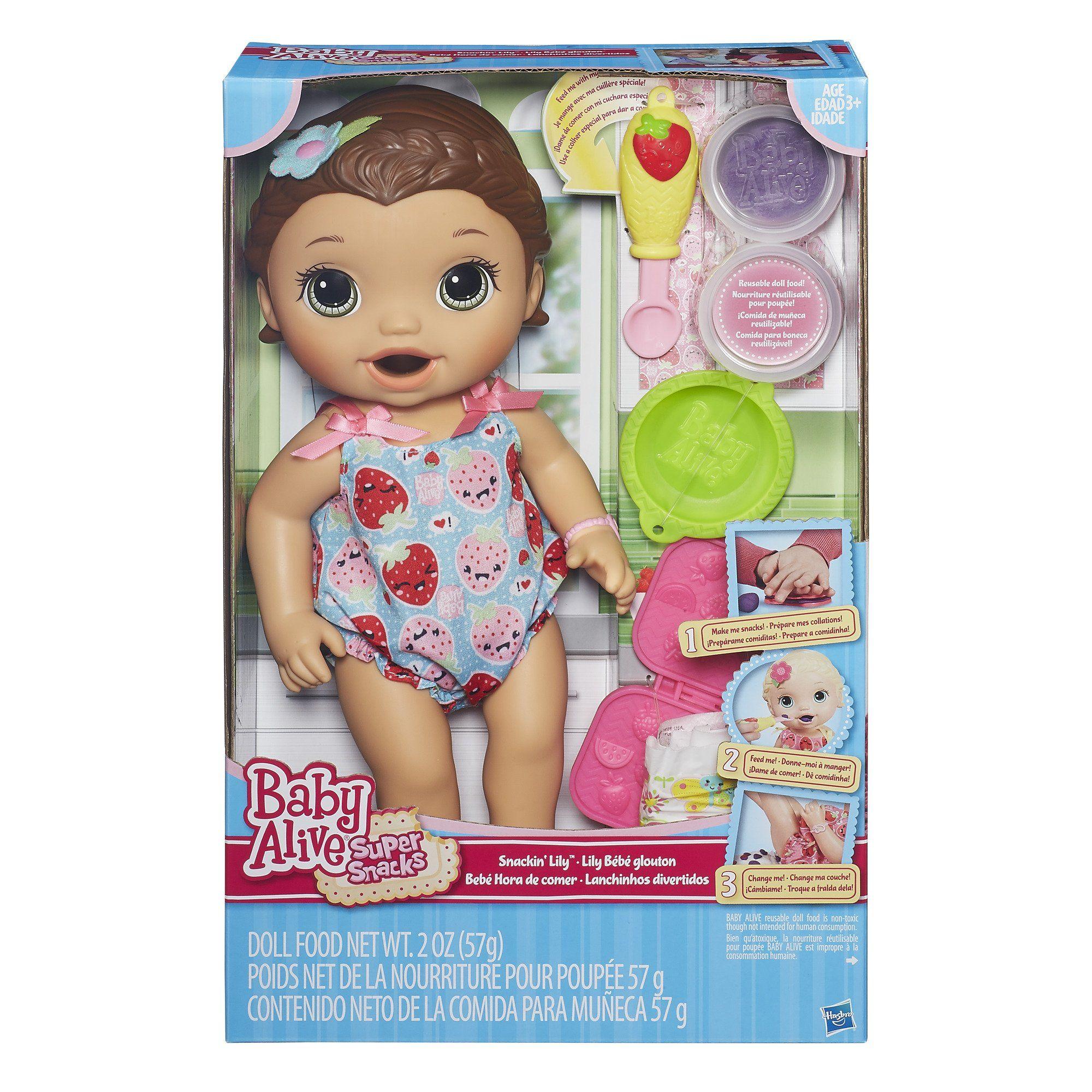 Amazon Com Baby Alive Super Snacks Snackin Lily Brunette
