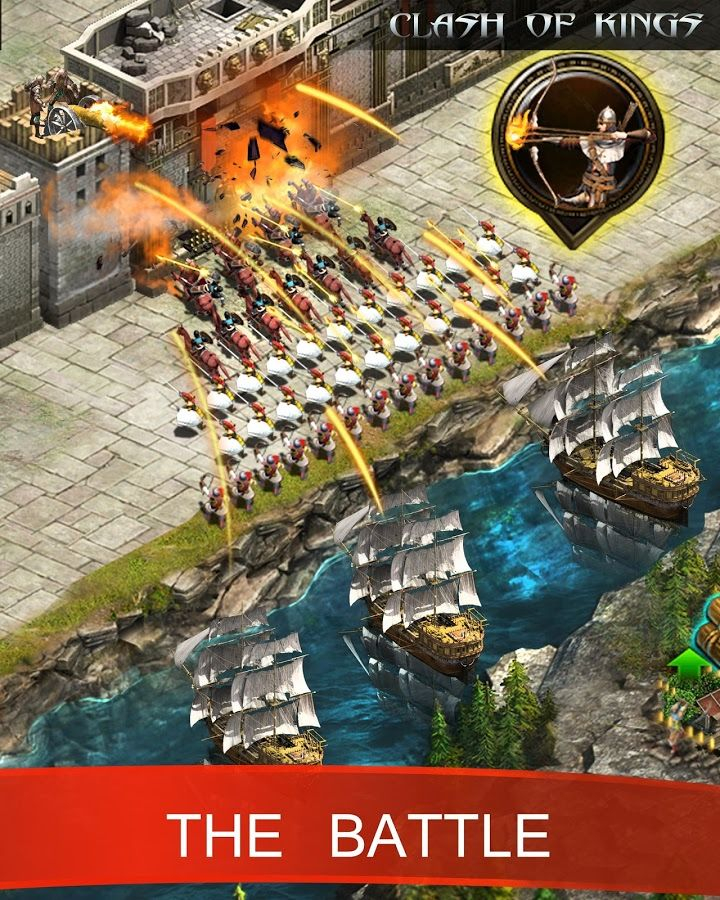 Clash of king game is based on real time strategy. You