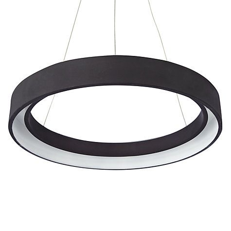 Brown Hoop Chandelier Contemporary 5 Ring Acrylic LED