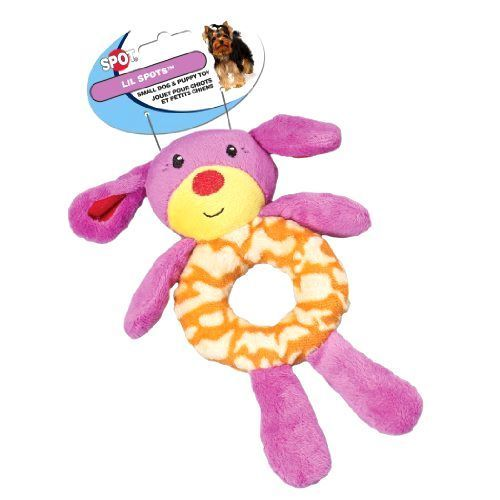 Ethical Pet Lil Spots Plush Ring Toys for Small Dogs and Puppies, 7.5-Inch, Asso #EthicalPet