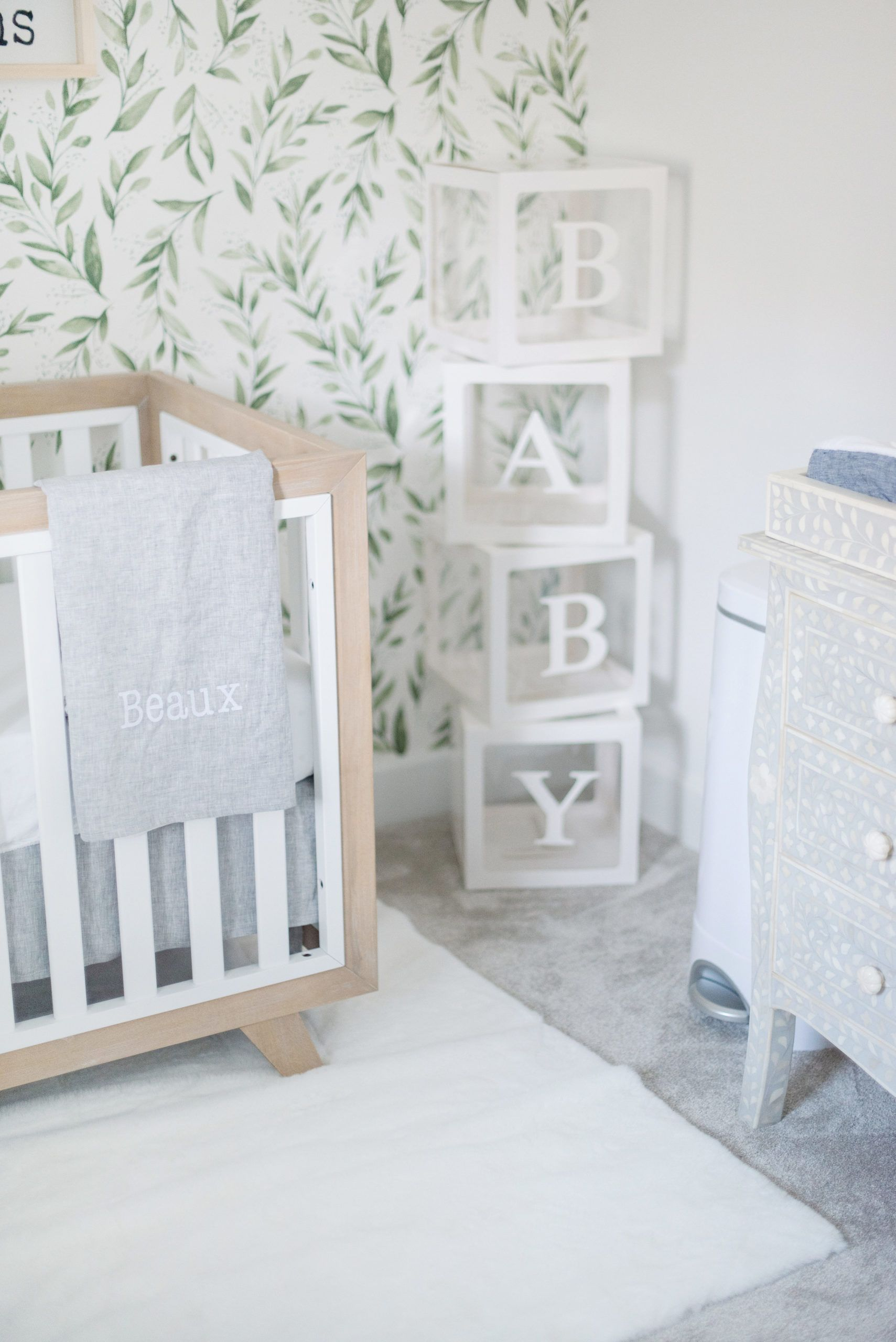 A Neutral Nursery For Baby Beaux Project Nursery In 2021 Nursery Room Design Nursery Neutral Nursery Decor Inspiration