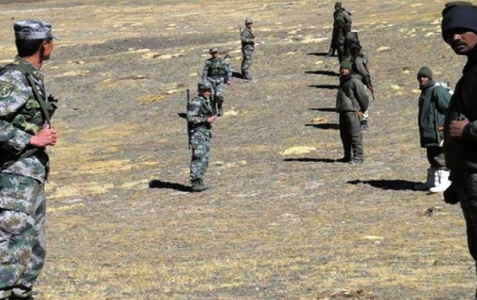 India And Chinese Soldiers Face To Face In Ladakh India Troops