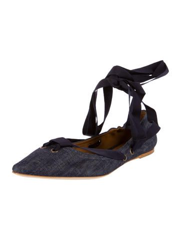 Tomas Maier Denim Pointed-Toe Flats w/ Tags free shipping factory outlet free shipping the cheapest under 70 dollars official site visit cheap online 3B8mWY7Kzz
