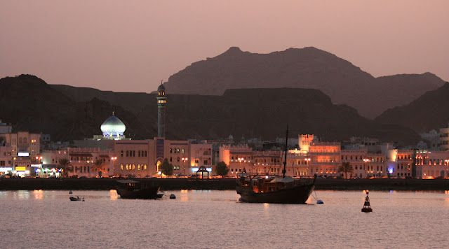 Muttrah at sunset, pure magic and Arabic charm