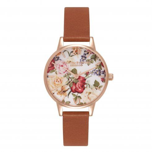 Olivia Burton - Enchanted Garden Midi Tan and Rose Gold