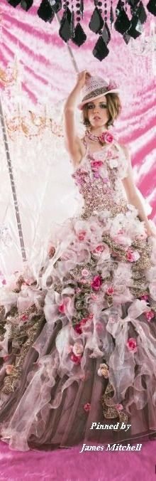 Stella de Libero gown dress and matching hat