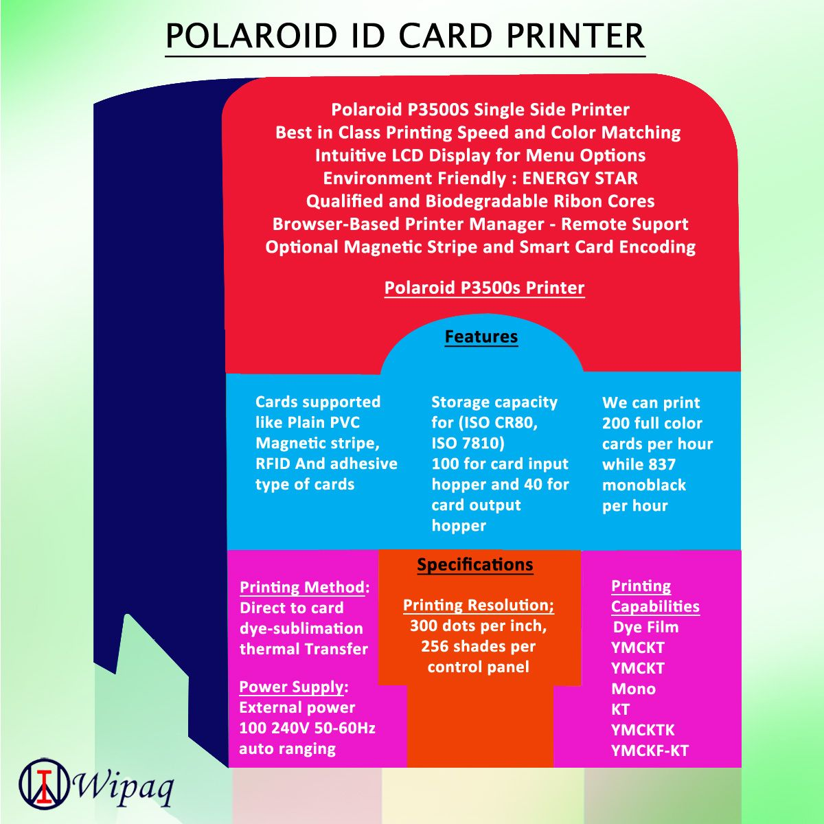 Best color printing quality - Polaroid Card Printer Brings Plastic Card Single Sided Printer Manufacturing Back To The United States Photo Card Id Print Quality Print Speed