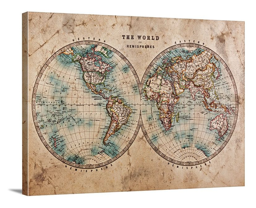 Vintage world map large wall art print wall art framed grunge vintage world map large wall art print wall art framed grunge world map canvas print gumiabroncs Images