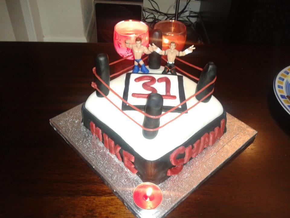 Wwe Wrestling Cake Made For My Husbands 31st Birthday Yep
