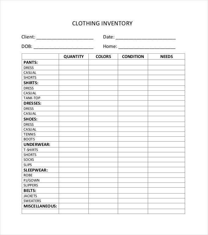 11 Inventory Sheet Templates Word Excel Pdf Templates Www