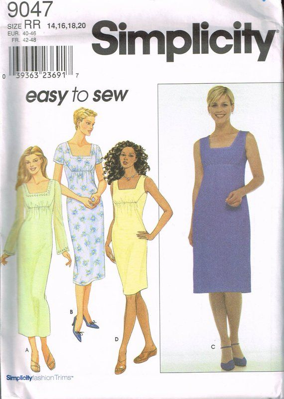 Size 14-20 Misses\' Easy Plus Size Dress Sewing Pattern ...