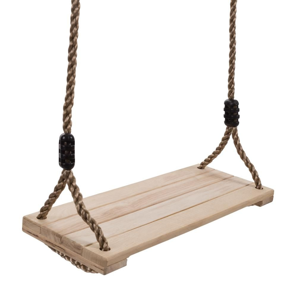 Hey Play Wooden Flat Bench Specialty Swing For Kids Playset Hw3500011 The Home Depot Outdoor Wooden Swing Wooden Swings Kids Swing