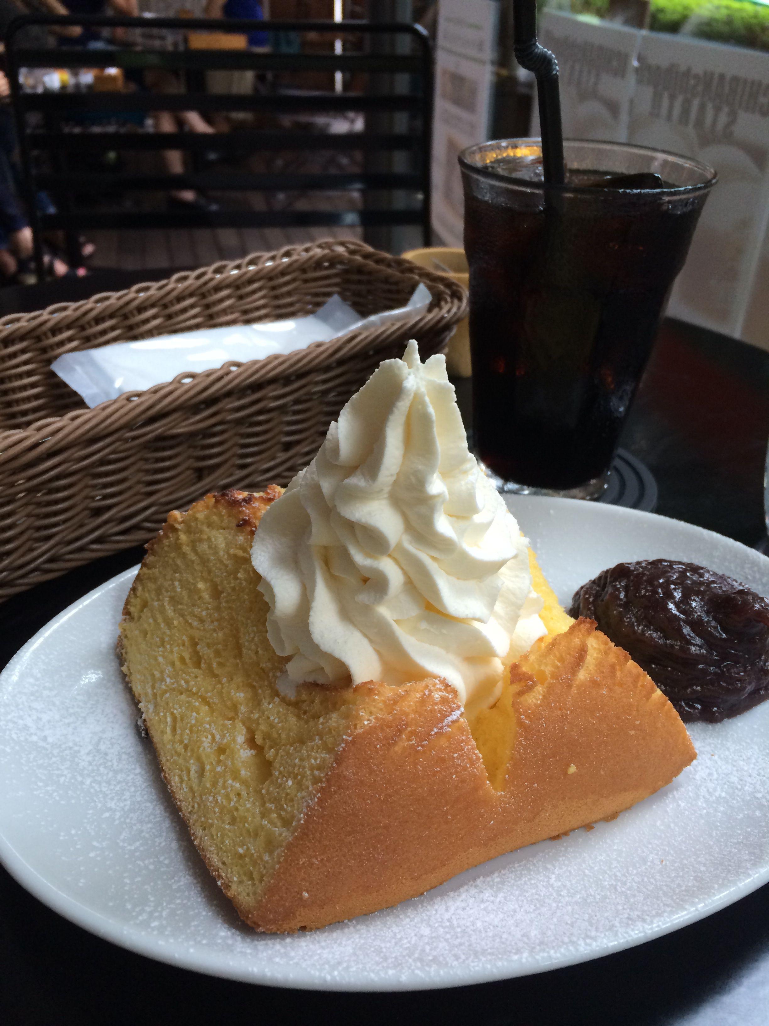 松濤カフェのシフォンケーキ