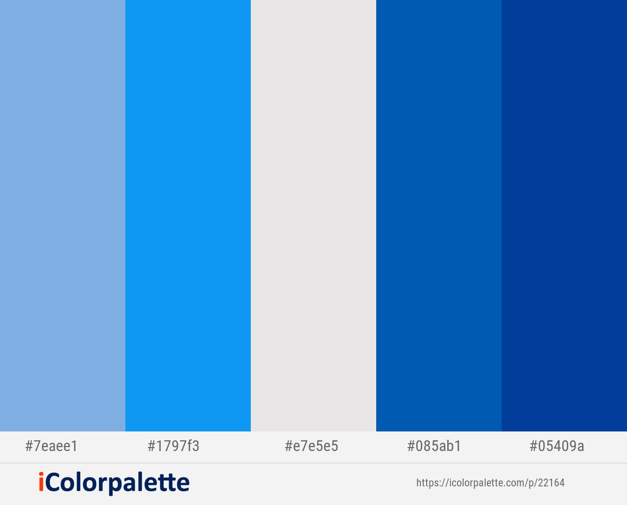 cornflower dodger blue mercury endeavour congress color scheme icolorpalette schemes colour palette pantone 321c xenon