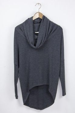 Soft Hi-Lo Cowl Neck Top