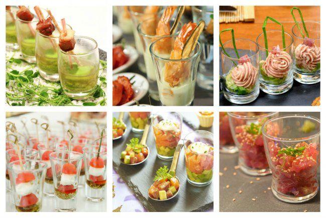 10 aperitivos salados para servir en vasitos de vidrio for Servir comida