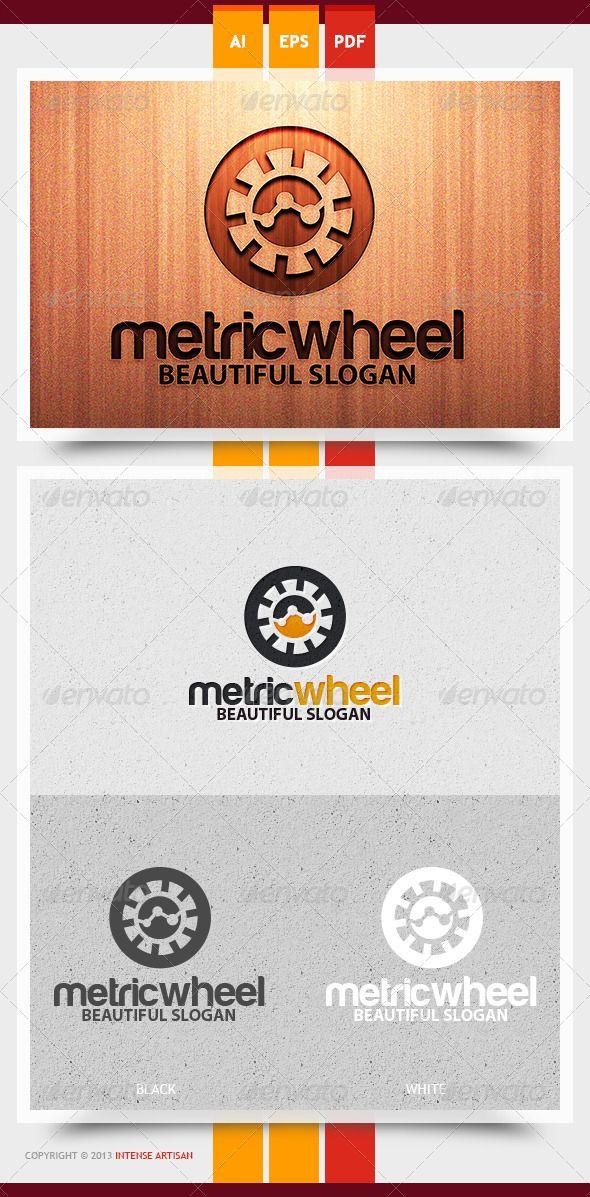 Metric Wheel Logo Template Logo templates, Template and Logos