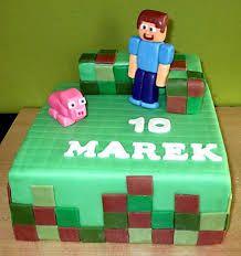 Výsledek obrázku pro dort minecraft