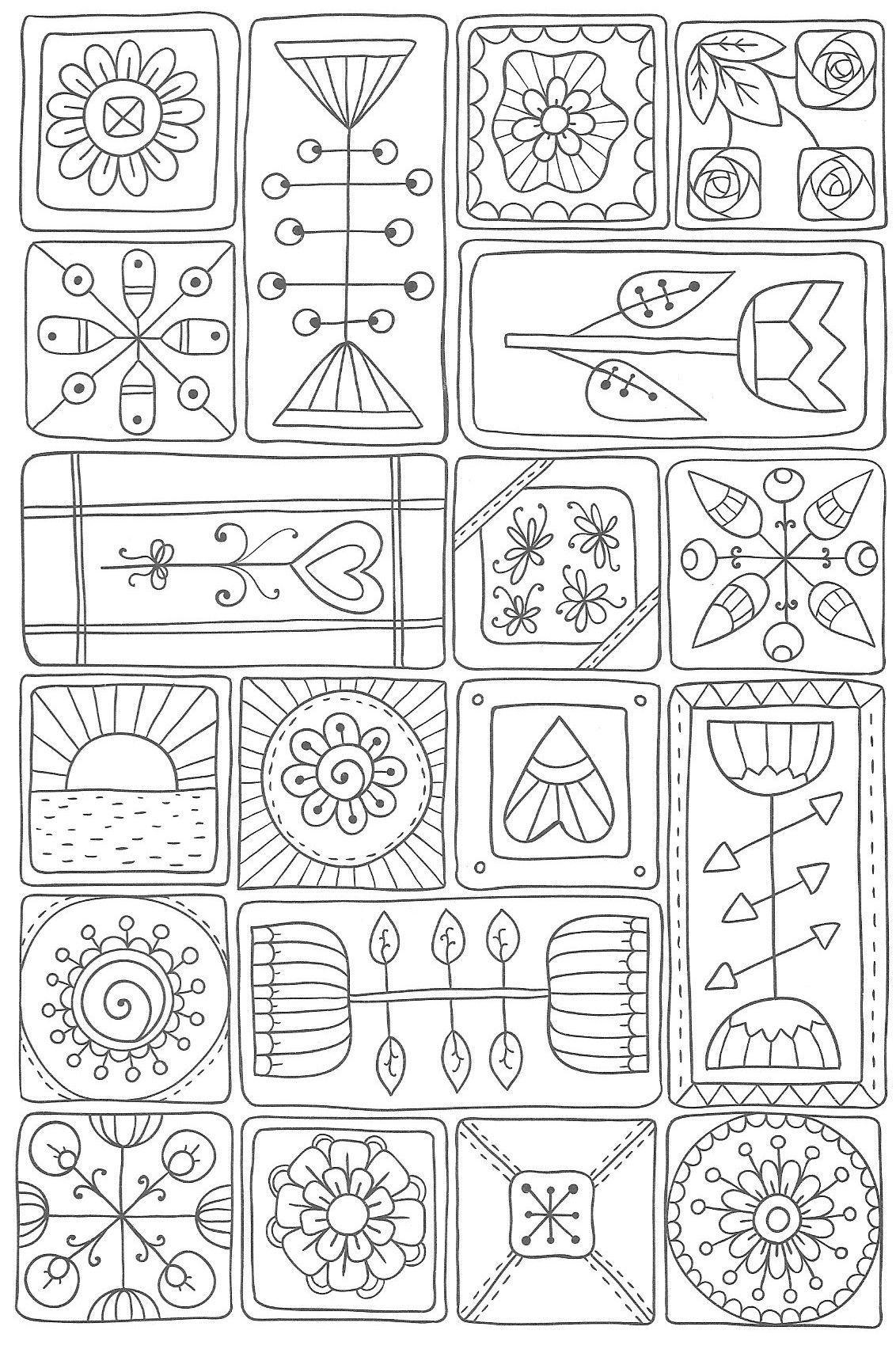 Charmant Malvorlagen Geometrische Muster Galerie - Malvorlagen Von ...