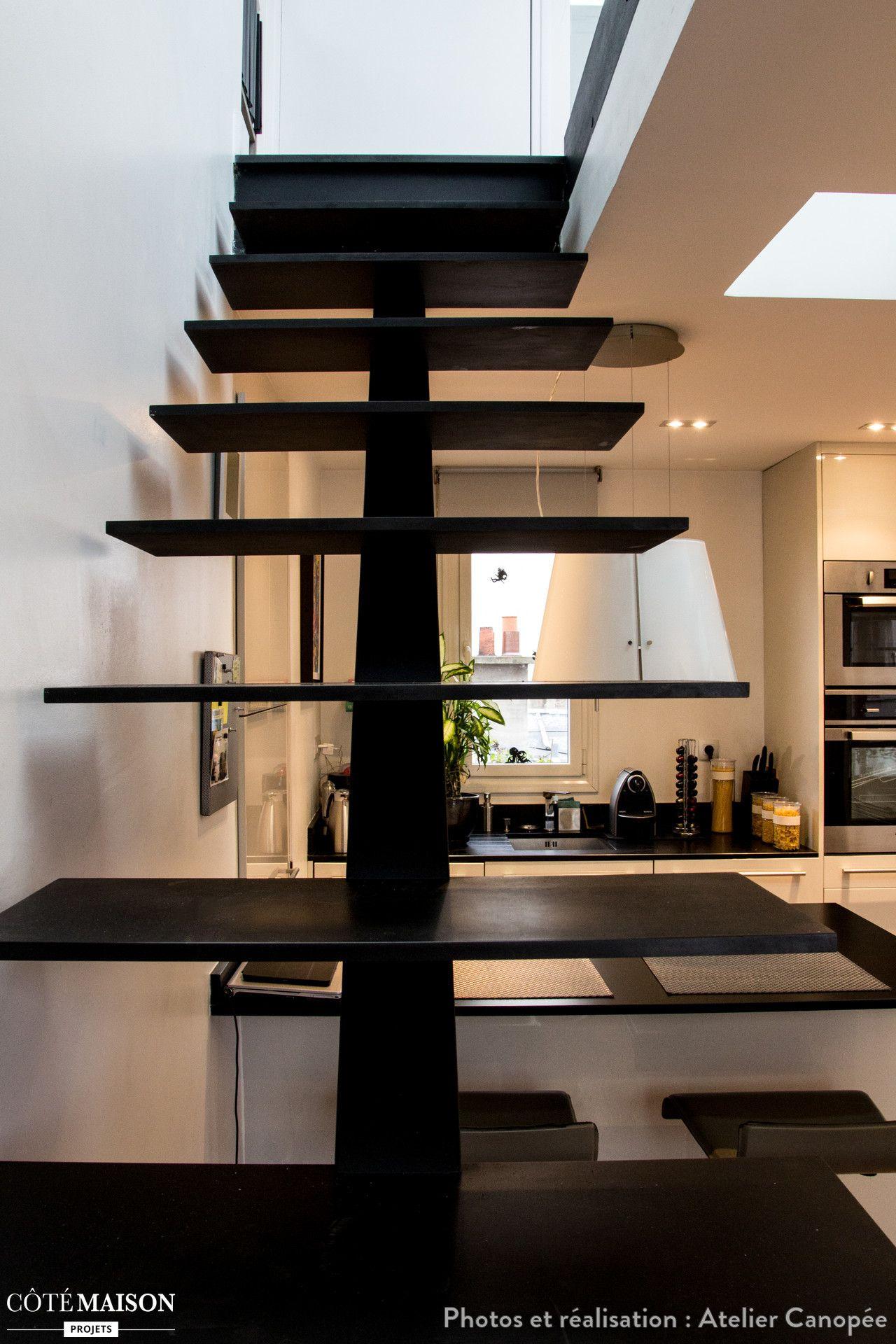 le ma tre d ouvrage voulait cr er un espace ouvert et. Black Bedroom Furniture Sets. Home Design Ideas