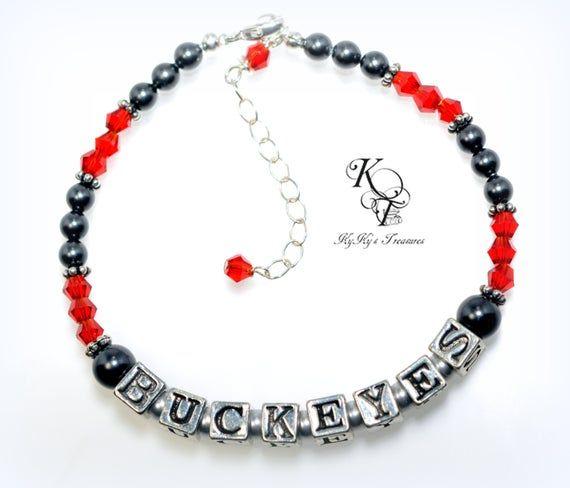 Ohio State Buckeyes, Buckeye Jewelry, Buckeye Bracelet, Ohio State Buckeyes Bracelet, Collegiate Jewelry, Ohio State Buckeyes Jewelry, OSU