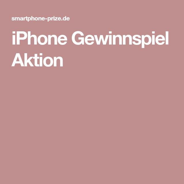 iPhone Gewinnspiel Aktion
