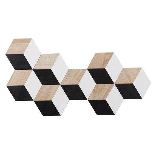 Déco Murale En Bois Hexagones | Maisons Du Monde | Collection