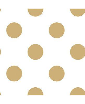 Graham Brown Dotty Gold Wallpaper Reviews Wallpaper Home Decor Macy S Polka Dots Wallpaper White And Gold Wallpaper Dots Wallpaper White and gold dotty wallpaper