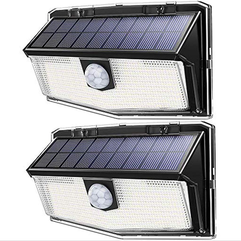 Mpow 300 Led Lampe Solaire Exterieur Puissante Etanche Ipx7 Lumiere Securite De Detecteur De Mouvement Pir Sensible Lampes Solaires Detecteur De Mouvement Led