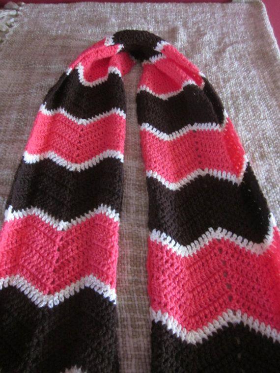 I like the colors! crochet chevron scarf by hookedoncROYchet, $35.00 ...