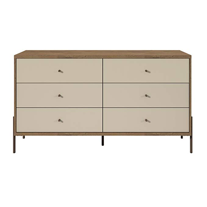 Amazon Com Manhattan Comfort 350594 Joy Series 2 Tone 6 Drawer Bedroom Dresser Off Off White Kitchen Dini Manhattan Comfort Modern Dresser Double Dresser