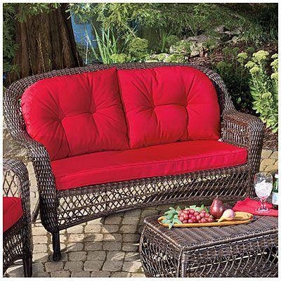 Wilson U0026 Fisher® Charleston Resin Wicker Cushioned Sofa   Decent Price