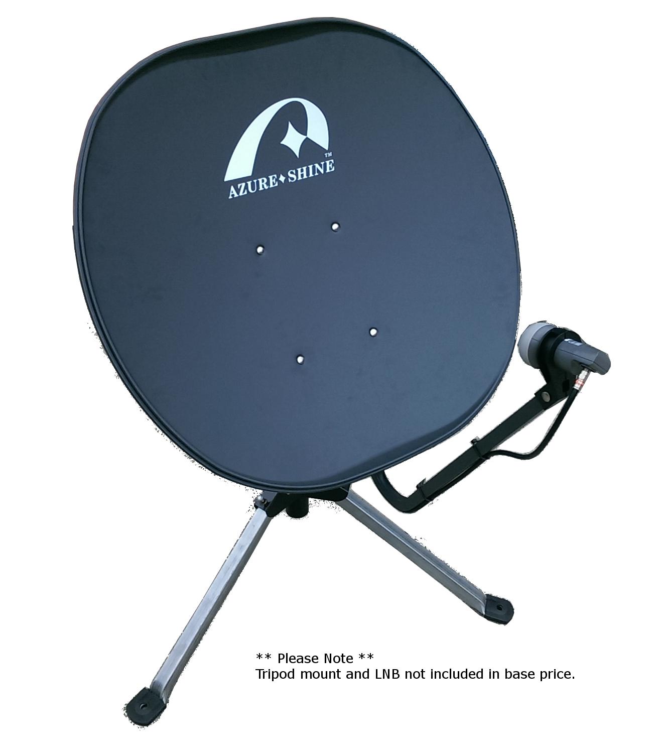 Tripod Mounted Satellite Dish Satellite Tv Tv Reception Satellites