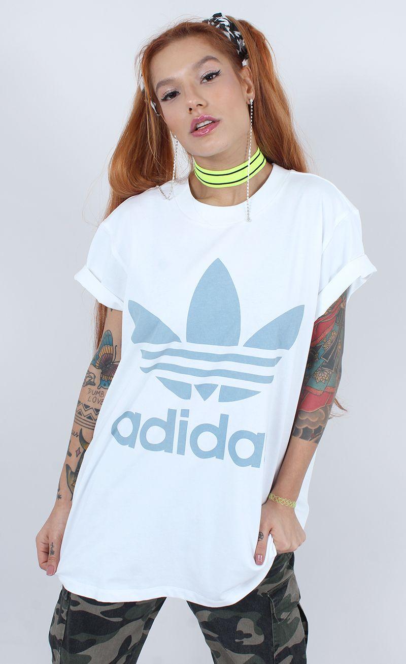 7d31fb63044 camiseta adidas big trefoil azul